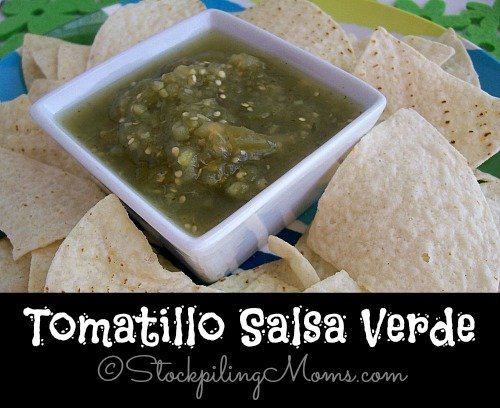 Tomatillo Salsa Verde is my kid's favorite salsa because it's not too spicy for them. I love to use the salsa on chicken enchiladas, tacos or even just as a dip.