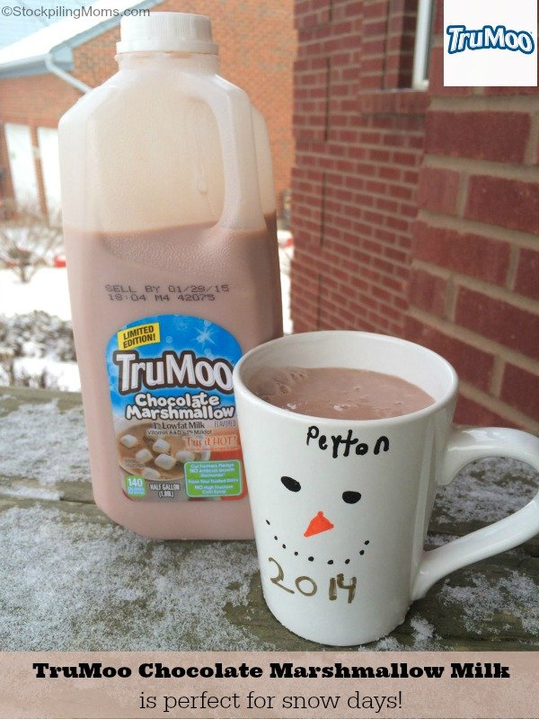 TruMoo Chocolate Marshmallow Milk is perfect for snow days!