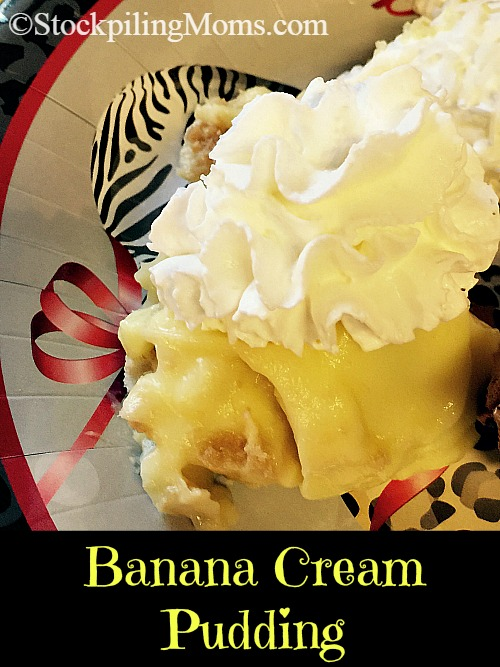 Banana Cream Pudding is an easy dessert recipe perfect for family gatherings and only 4 ingredients needed!