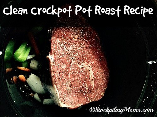 Clean Crockpot Pot Roast Recipe is a great recipe for those trying to eat clean. It is also a simple dish made with mostly vegetables and spices. #cleaneating