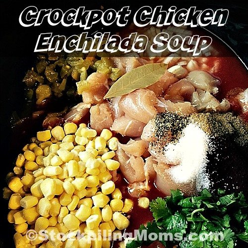Crockpot Chicken Enchilada Soup is a hearty, clean eating soup full of flavor and wholesome goodness.