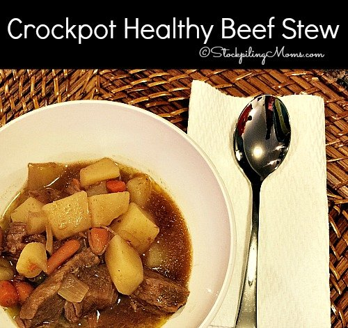 Crockpot Healthy Beef Stew easy to prep and tastes delicious! This is a hearty meal that is good for you!
