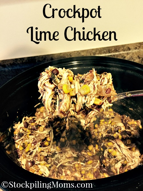 This is a must pin freezer meal recipe! Crockpot Lime Chicken is amazing and an easy freezer meal!