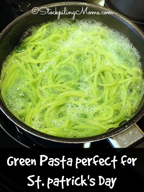 How to make your own St. Patrick's Day Green Pasta is so easy and the kids will LOVE it!