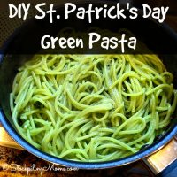 DIY St. Patrick's Day Green Pasta