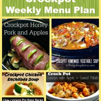 Heart Healthy Crockpot Weekly Menu Plan