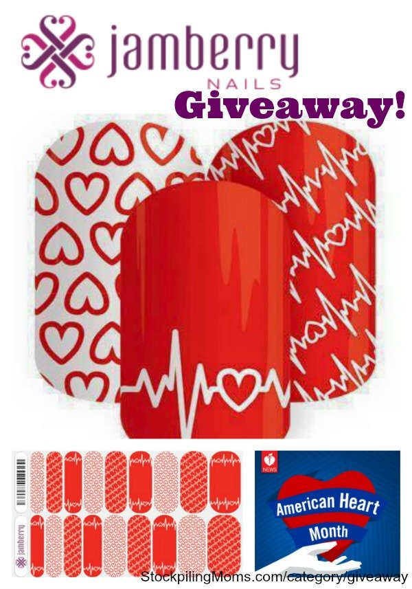 Heart Health Awareness Jamberry Nail Wraps Giveaway – CLOSED