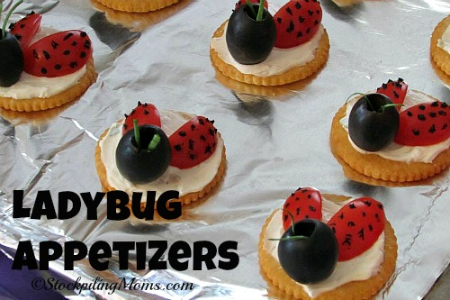 Ladybug Appetizers are perfect for baby showers or bridal showers!