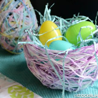 Sugar String Eggs and Baskets