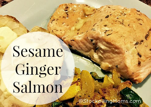 Sesame Ginger Salmon is a must pin seafood recipe for Lent!