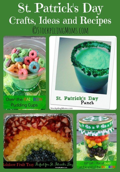 St. Patrick's Day Crafts, Ideas and Recipes perfect for children and adults! Great way to celebrate the day!