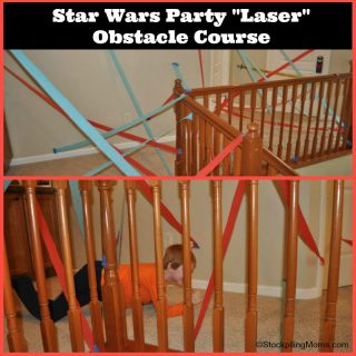 Star Wars Party Laser Obstacle Course