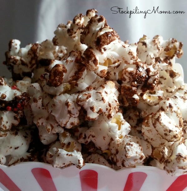 Weight Watchers Chocolate Covered Cherry Popcorn is a delicious treat!