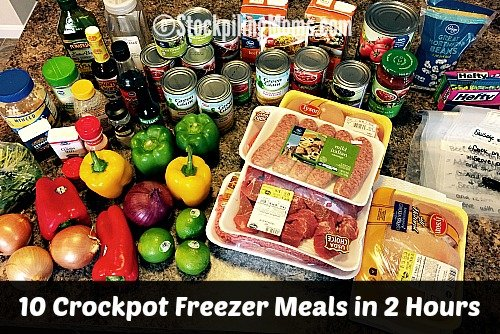 10 Crockpot Freezer Meals in 2 Hours