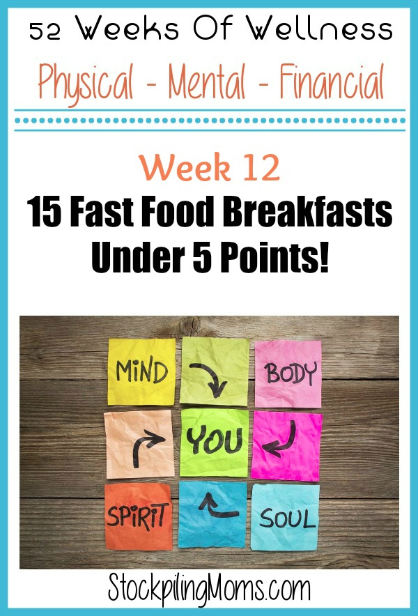 Weight Watchers Points Plus Fast Food Options