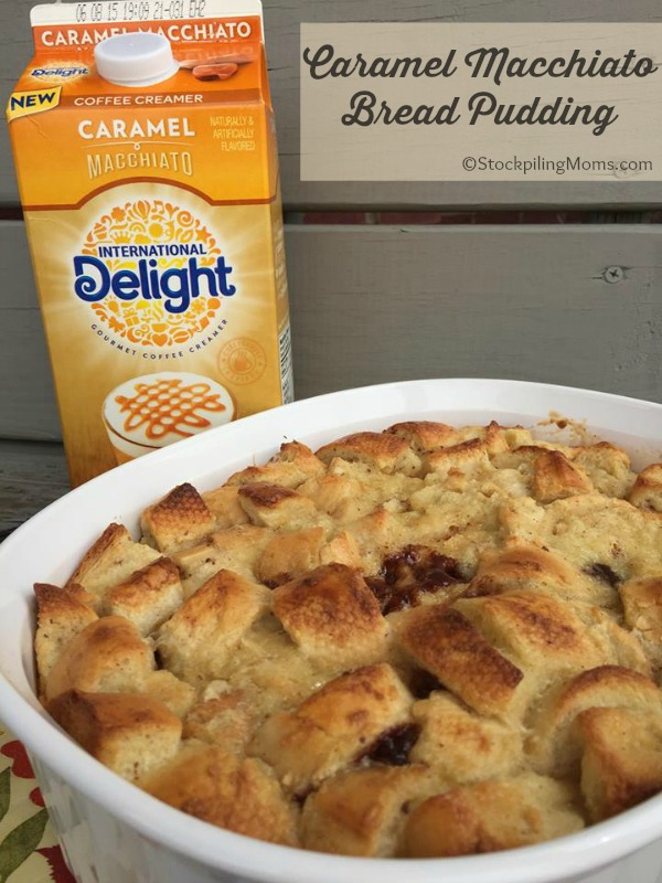 Caramel Macchiato Bread Pudding is rich and gooey and so easy to make!