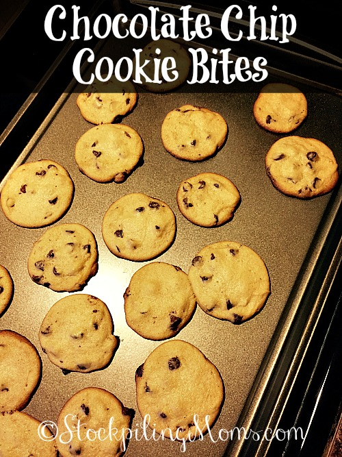 Chocolate Chip Cookie Bites are the perfect size cookie for munching! This is a must pin dessert recipe for parties.
