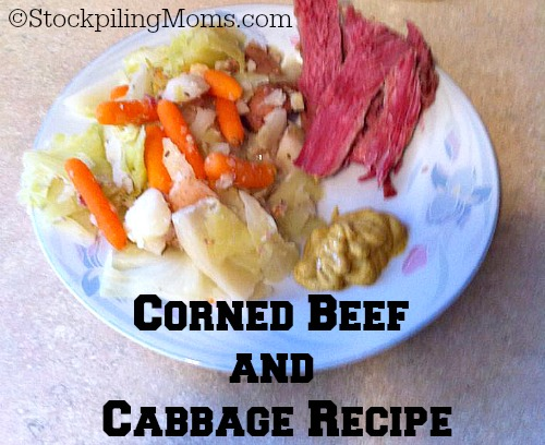 Corned Beef and Cabbage Recipe is perfect for St. Patrick's Day dinner! May the Luck of the Irish bestow upon you!