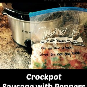 Crockpot Sausage with Peppers & Onions