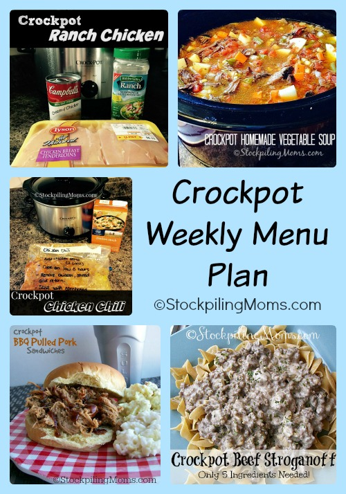 This is a must pin to help save you time in the kitchen - Crockpot Weekly Menu Plan!