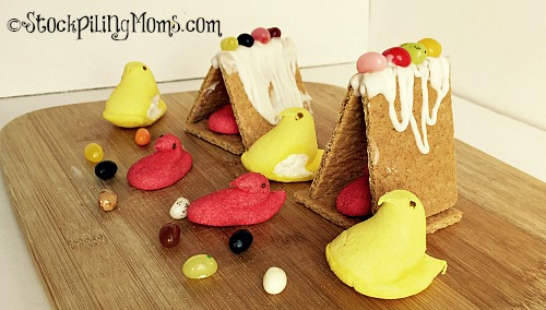 DIY Easter House is a fun project to make with kids!