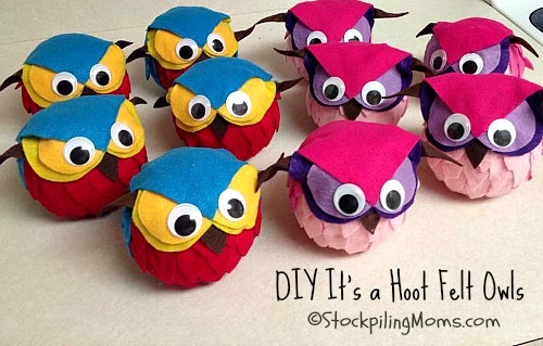 DIY It's a Hoot Felt Owls are such a great craft to make! Perfect for parties.