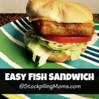 Easy Fish Sandwich