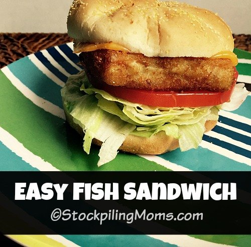 Easy Fish Sandwich that is perfect for lunch or dinner during Lent season or anytime of the year!