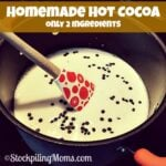 Homemade Hot Cocoa Only 2 Ingredients