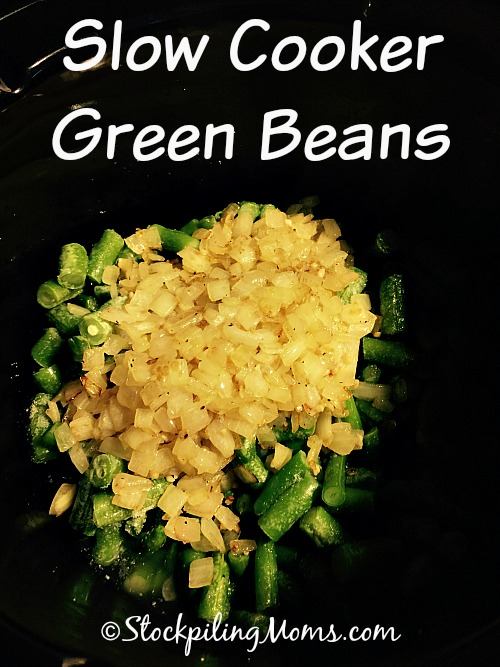 Slow Cooker Green Beans is an excellent side dish with only 5 ingredients!