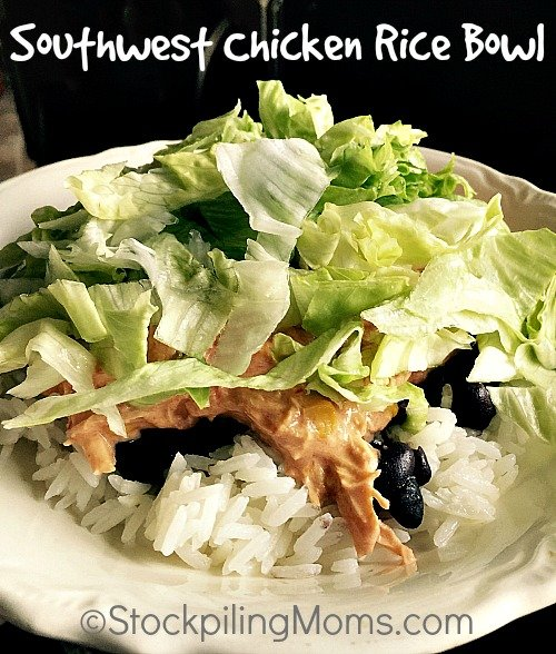 Southwest Chicken Rice Bowl is a great leftover recipe! Was able to make in less than 30 minutes for dinner.