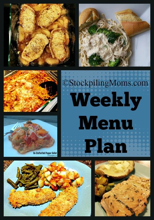 This is a must pin --- Weekly Menu Plan that is full of easy meals for on the go families!