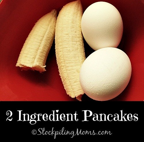 2 Ingredient Pancakes are an excellent clean eating breakfast recipe!