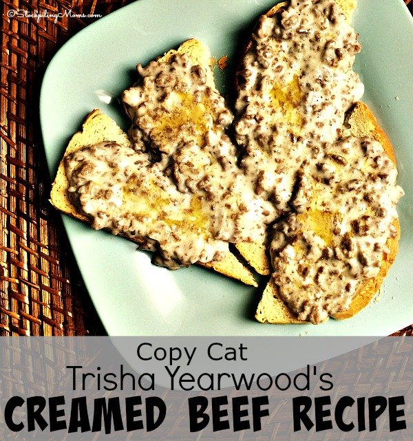 This Copy Cat recipe of Trisha Yearwood's Creamed Beef is so yummy and can be made in less than 30 minutes.