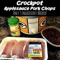 Crockpot Applesauce Pork Chops
