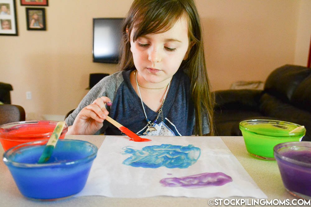 Edible Finger Paint - Make Learning Fun with only 3 ingredients in this fun project that the kids will love!