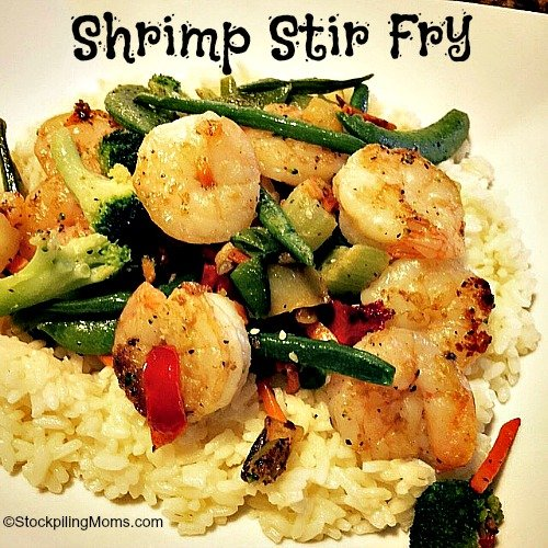 Shrimp Stir Fry is a wonderful recipe that you can make in less than 30 minutes and you can change to make it your way!