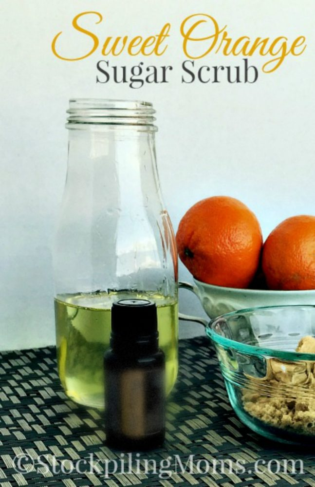 Sweet Orange Sugar Scrub Recipe