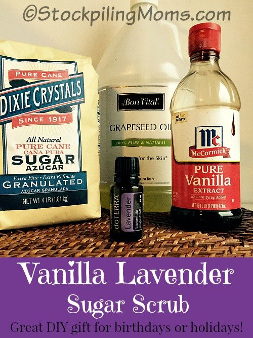 Vanilla Lavender Sugar Scrub is so easy to make with only 4 ...