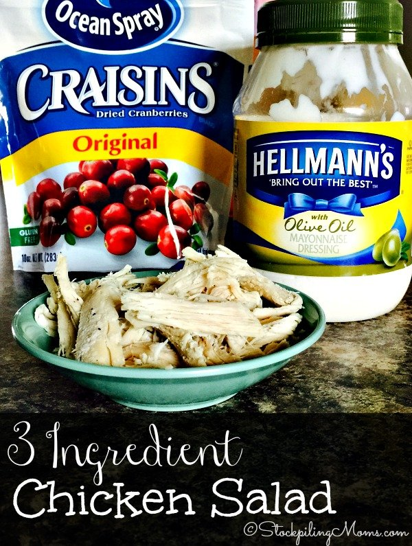 This 3 Ingredient Chicken Salad is perfect for lunch or a light dinner! Tastes out of this world.