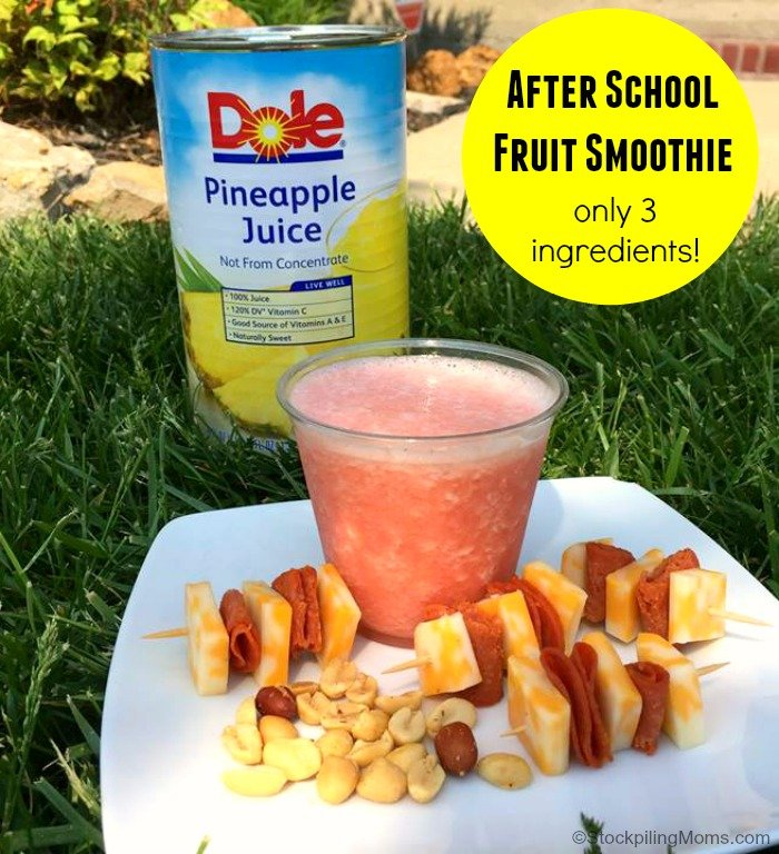 After School Fruit Smoothie Recipe - Only 3 Ingredients in this naturally gluten free treat!