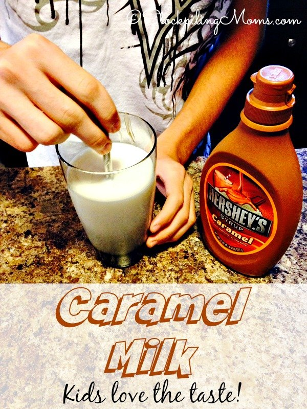 Caramel Milk is a great kid recipe with only 2 ingredients and they can do it themselves!