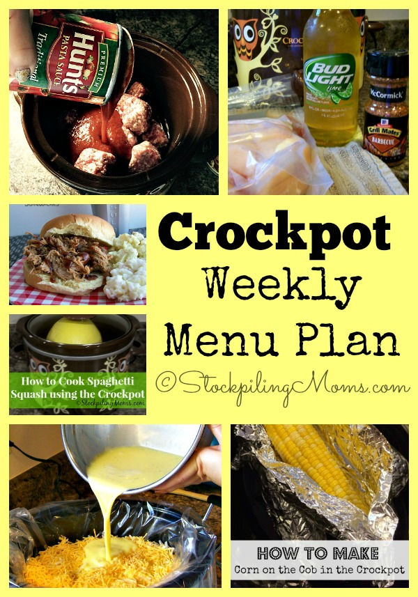 Crockpot Weekly Menu Plan helps you save time and money in the kitchen!