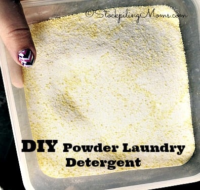 DIY Powder Laundry Detergent that you only need 3 ingredients and cleans better than store bought!