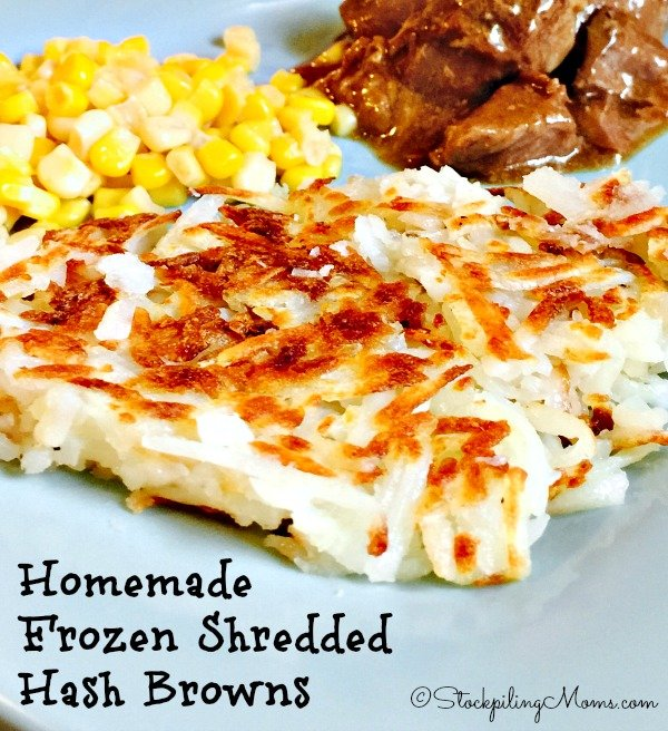 Homemade Frozen Shredded Hash Browns that are healthier than store bought for your family!