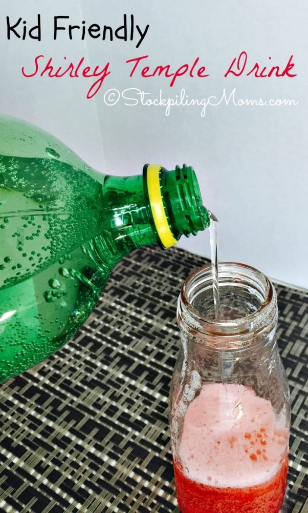 Kid Friendly Shirley Temple Drink made with only 2 ingredients!