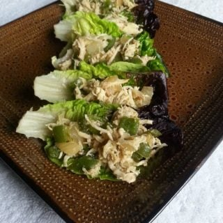 Mexican Chicken Lettuce Cups