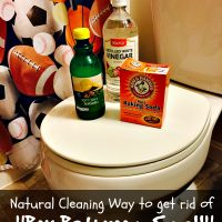 Natural Cleaning Way to get rid of Boy Bathroom Smell