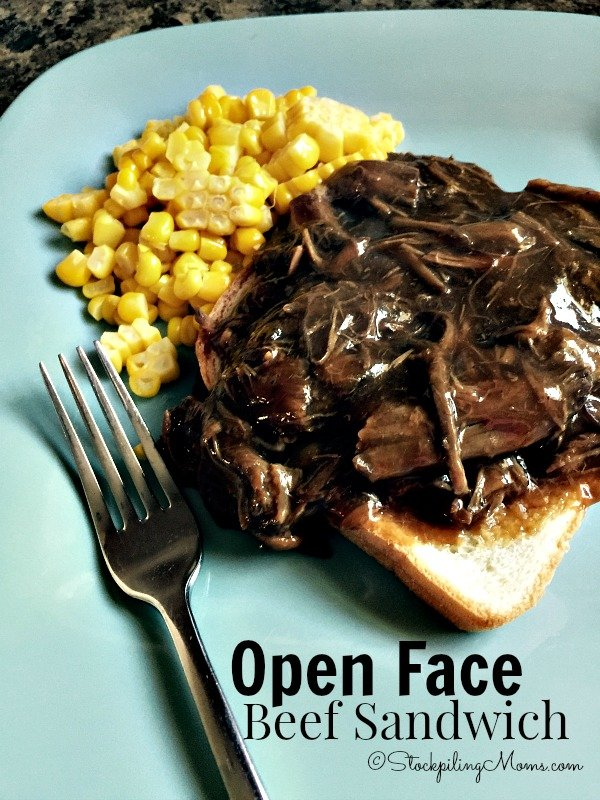Open Face Beef Sandwich is a great recipe that can be made in as little as 15 minutes using leftovers!