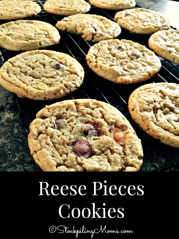 Reese Pieces Cookies are super yummy and so much fun to make with kids!